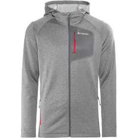 Columbia Jackson Creek II Hoodie Men Graphite Heather/Mountain Red